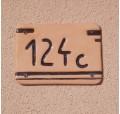 Hišna številka - barve, motiv in številka po naročilu