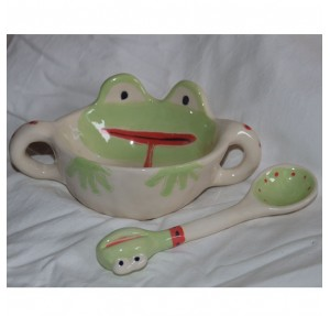 Otroška skodelica in žlička Žaba